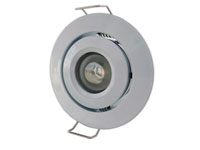 Vitmålad downlight justerbar 45°