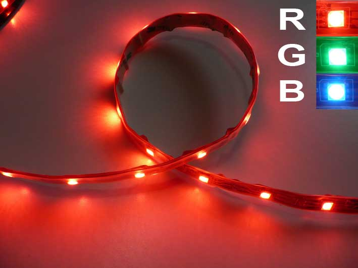 LED strip RGB. 5m rulle