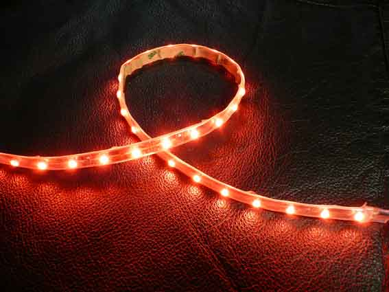 LED strip 204Lm/m, 300mm, Röd