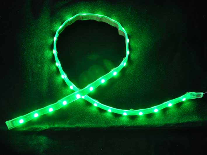 LED strip 220Lm/m, 300mm, Grön