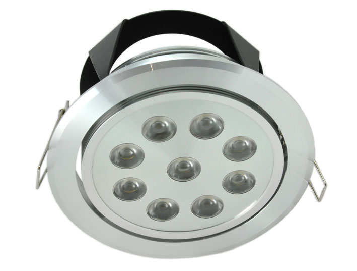 Downlight LED rund justerbar 9x1w, 720Lm