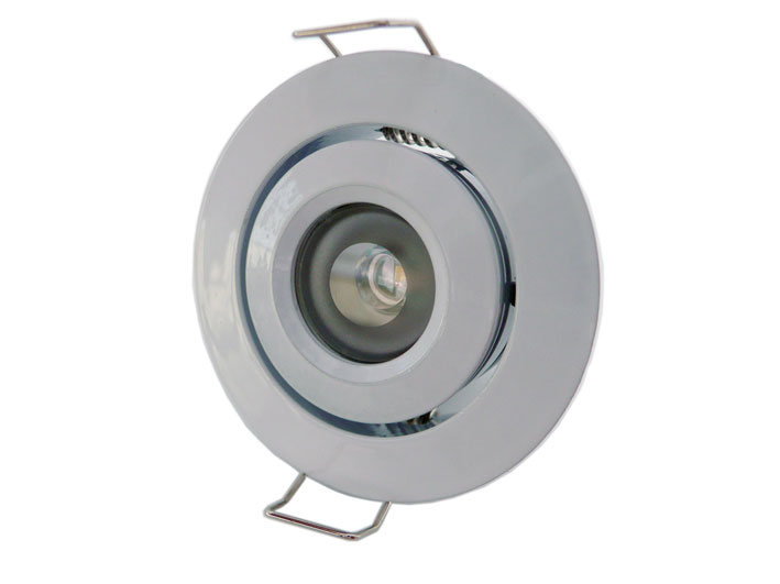 Downlight LED rund justerbar 45° 3w Vit, 120Lm