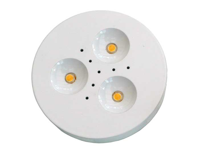 Downlight LED puck 3x1w Vit, 120°, 180Lm
